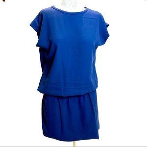 Diane Von Furstenberg blue elastic waist dress